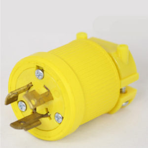 15 Amp 250 VAC Flip Seal Locking Blade Plug Image