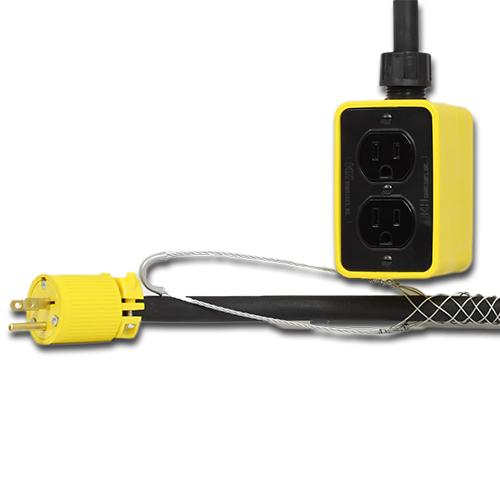 15 Amp, 25 Foot Pendant Drop Outlet Box Image