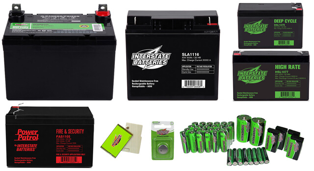Full line of Interstate Batteries