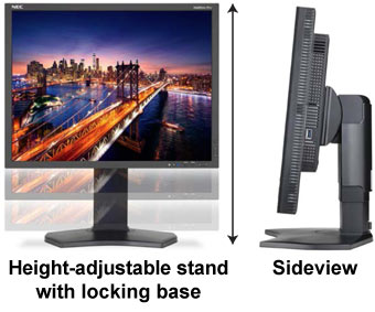 """Canvys Touch Integrated 21.3"""" High Performance LCD Display Adjustable Height"""