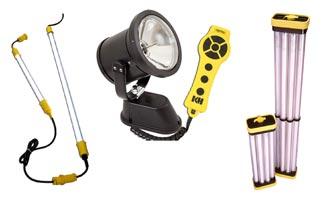 Lighting: temporary lighting, hazardous location lighting