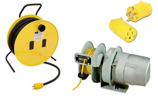Power: plugs, connectors, pendants, electric cord reels